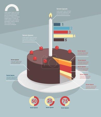 Infographic. pie