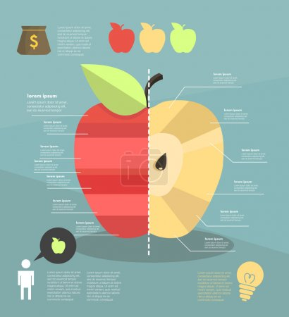 Nfographic. apple.