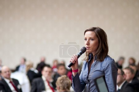 Photo for Indoor business conference for managers. - Royalty Free Image