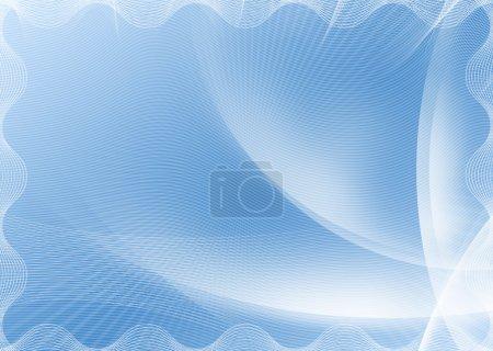 Photo pour Arrière-plan de modèle de certificat bleu. - image libre de droit