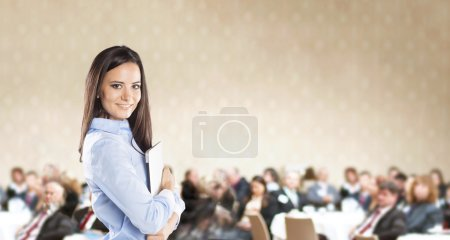 Photo for Public indoor business conference for modern managers. - Royalty Free Image