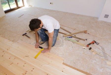 Measuring wood flooring