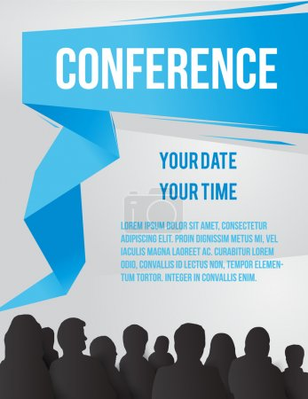 Illustration for Conference tamplate illustration with space for your texts - Royalty Free Image