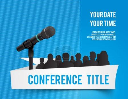 Ilustración de conferencia