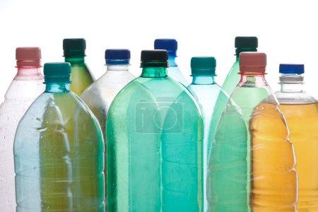 Plastic bottles in different color