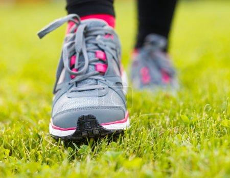 Runner shoes closeup