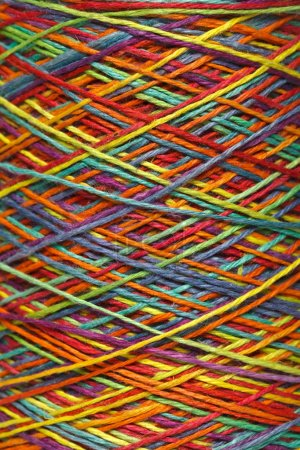 Photo for The multicolored yarn used for knitting clothes - Royalty Free Image