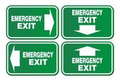 Emergency exit signs - green sign