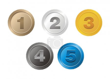 Set of 1,2,3,4,5 badge