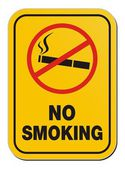 No smoking yellow sign
