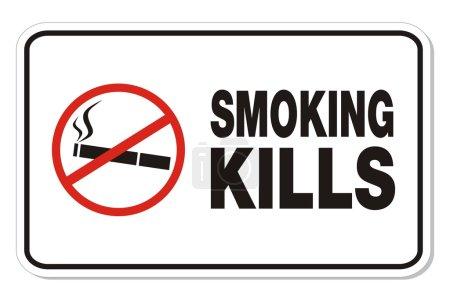 Fumer tue - signe de rectangle