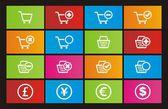 Online shop metro style icon sets