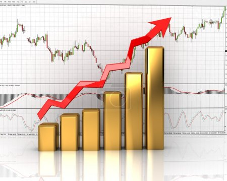 Chart, diagram (showing revenue growth)