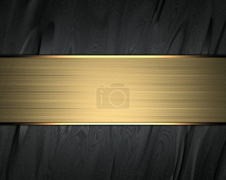 Beautiful black background with a gold name plate for writing.