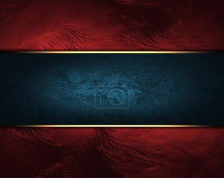 Photo pour Fond rouge avec signe bleu avec garniture dorée. Conception des éléments - image libre de droit