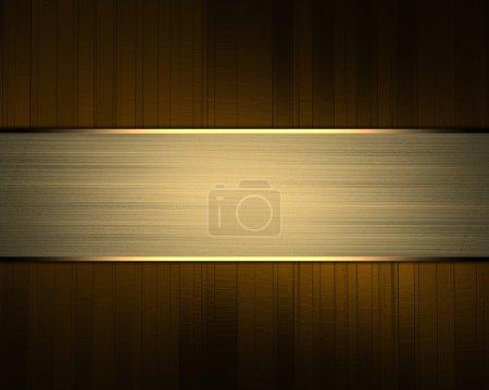 Photo pour Fond brun avec ruban or / élément. Élément de conception . - image libre de droit