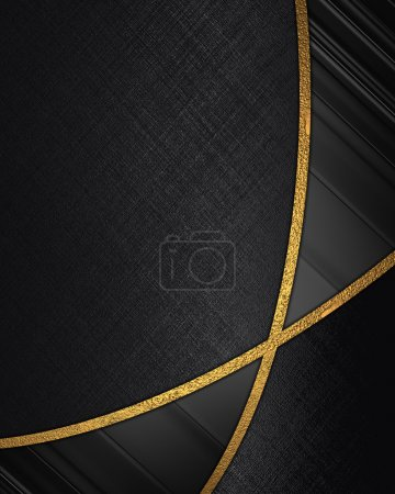 Photo for The template for the inscription. Abstract black background with black inserts. - Royalty Free Image