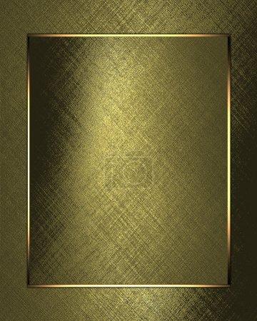 Photo pour Fond d'or avec du papier feuille d'or. Modèle de conception - image libre de droit