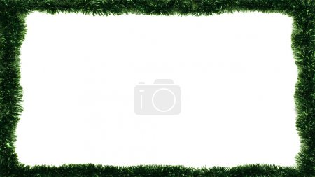 Christmas frame on a white background