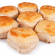 Shot of biscuits isolated over white background....