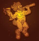 Vector gold satyr