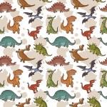 Vector dinosaur seamless pattern