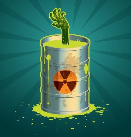 Vector radioactive barrel