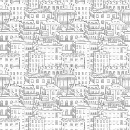 Illustration for Vector city seamless pattern - Royalty Free Image