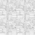 Vector city seamless pattern