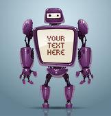 Vector banner robot 8