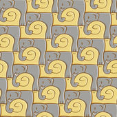 Snail And Elephant Pattern