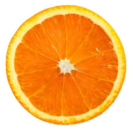 Photo pour Tranche d'orange isolé sur fond blanc. - image libre de droit