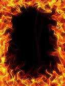 "Постер, картина, фотообои ""Огонь и пламя кадр"""