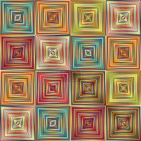 Illustration pour Motif d'art vectoriel ethnique géométrique sans couture - image libre de droit
