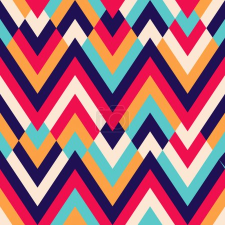 Illustration for Seamless vector geometric rhombus color pattern background - Royalty Free Image