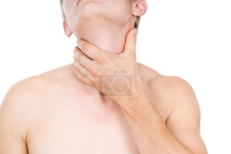 guy, a sore throat