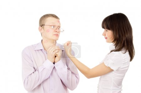 she swears by her boyfriend, and he asks for forgiveness