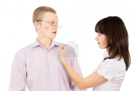 Girl angry by her boyfriend