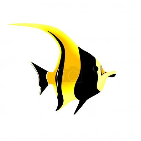 Tropical fish isolated on a white background, vector illustration