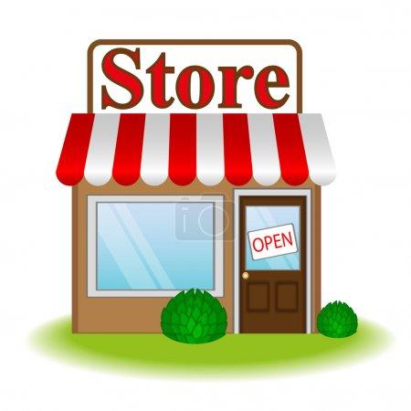 Illustration pour Illustration vectorielle de l'icône magasin - image libre de droit
