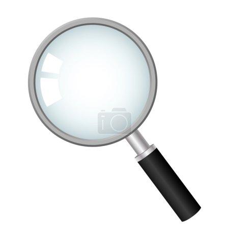 zvětšovací sklo, vektorové ikony