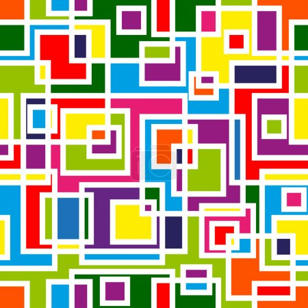 Illustration for Abstract mosaic seamless pattern - Royalty Free Image