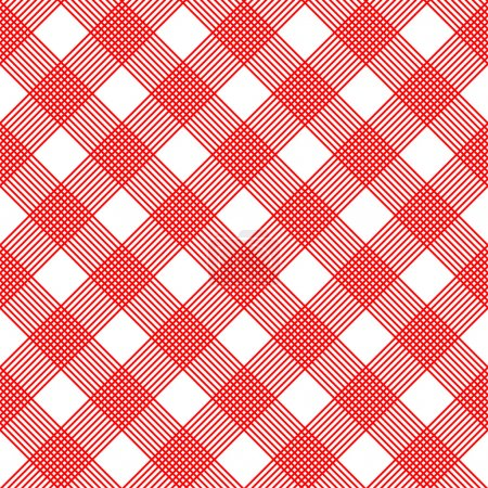 Illustration for Checkered tablecloth. Seamless vector - Royalty Free Image