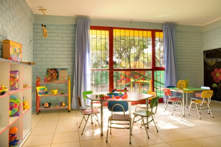 Photo for Empty kindergarten classroom in Chile - Royalty Free Image