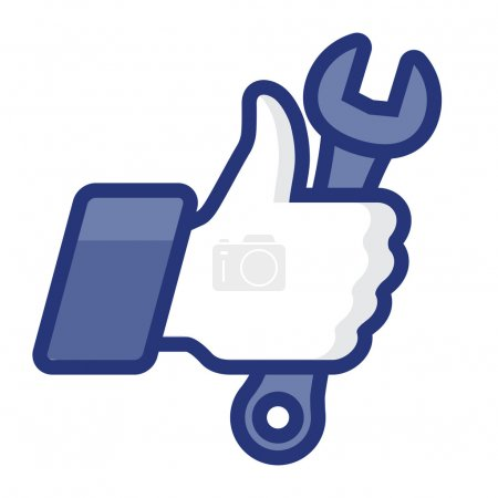 Like/Thumbs Up icon with wrench