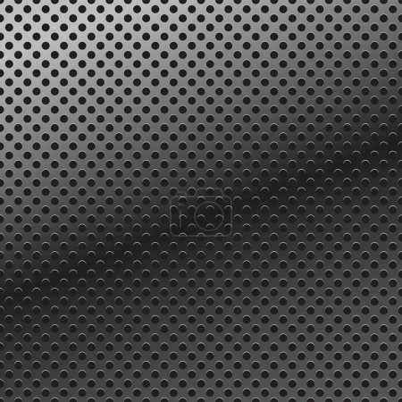 Illustration for Vector pattern of perforation metal background - Royalty Free Image