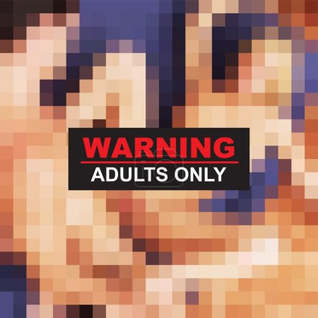 Photo for Adult 18 warning xxx vector - Royalty Free Image