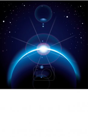 Illustration for Space vector image - Royalty Free Image