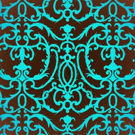 Photo for Damask vintage floral background pattern - Royalty Free Image