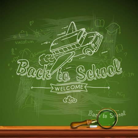 Illustration for Back to school, vector Eps10 illustration. - Royalty Free Image